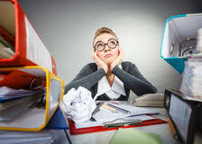 Bored Office Employee At Work Royalty Free Stock Photos