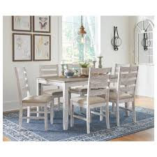 Skempton Dining Room Table Set Table And 6 Chairs Antique White