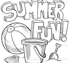 Free Printable Coloring Sheets Summer 83 For Your Line Drawings With A Part Of 4 Image