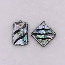 100 Natural Geometry US 215 14 OFF Geometry Shell Pendant Shellabalone Rectangle Square Shell With Abalone Jewelry Pendant2229in Pendants From Jewelry