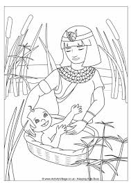 Moses In The Basket Colouring Page Click Through To Website For Printable