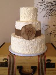 3 Tier All Frosting Wedding Cake