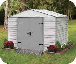 Shed Anchor Kit Instructions by Arrow 8x5 Viking Vinyl Coated Steel Shed Kit Vvcs85