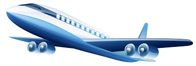 Blue Airplane PNG Clipart