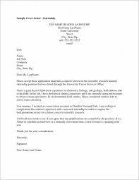 exle of cover letter for resume internship cover letter