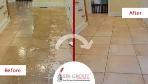 tile cleaning service in darien ct gives this tile floor an