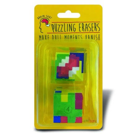 Recent Toys Puzzling Erasers Combo 2 Brain Teaser