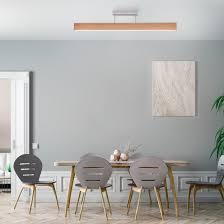 paul neuhaus q timber led deckenleuchte eichenholz dimmbar smart home