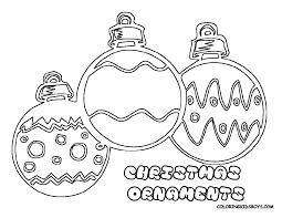 Christmas Ornaments Printable Coloring Sheets
