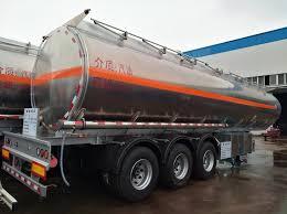 100 Best Semi Truck Brand HOT SALE3 Axles 44m3 Aluminum Alloy Oil Tank Semi Trailer For Sale