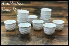 SOLECASA ARABIC COFFEE CUPS CAWA WHITE SET OF 12 ROUND GOLD