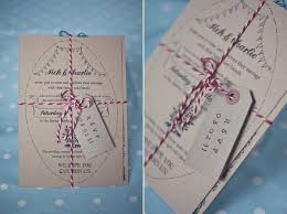 Our Wedding Handmade Rustic Stationery With Red And White