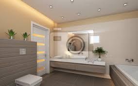 fototapete helles badezimmer mit grau holz