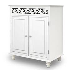 Free Standing Kitchen Cabinets Amazon by White Wooden Cupboard Cabinet Sideboard 2 Doors Furniture
