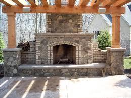 Download Outdoor Brick Fireplace