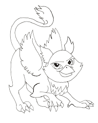 Monster Pet Rochelle Goyle Coloring Pages