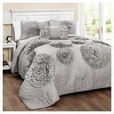 Lush Decor Belle 4 Piece Comforter Set by Fiorella Quilt Gray 4 Piece Set Lush Decor Target