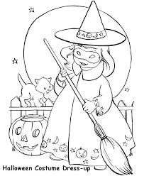 Free Printable Halloween Witch Coloring Page