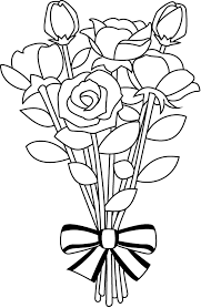 Black And White Flower Bouquet Clipart Black And White Flower in Flower Bouquet Clipart Black And