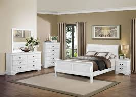 mayville 4pc traditional louis philippe white queen sleigh bedroom set