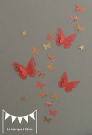 decoration chambre fille papillon decorations murales 25 stickers papillons corail abr 7606345