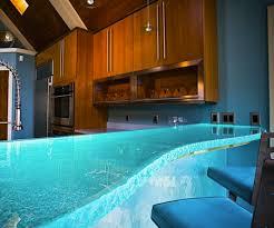 comptoir cuisine montreal thinkglass des comptoirs en verre illuminés par des lumières