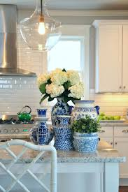 Add Color And Light To Your Kitchen With Pendants Decorative Vases On The Island