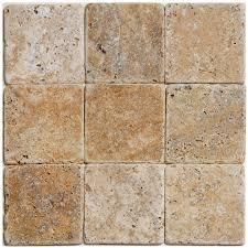 scabos travertine floor tile shop big pacific 4 in x 4 in scabos travertine floor tile at lowes