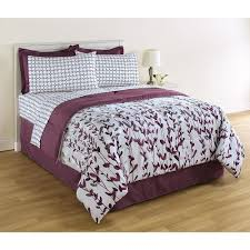 Lavender And Grey Bedding by Queen Size Comforter 8 Pc Bedding Set Purple Floral Bedskirt Sheet