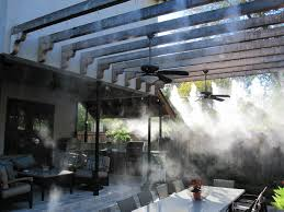 Portable Patio Misting Fans by Things To Consider When Buying Misting Systems Mist Cooling Blog