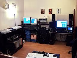 interesting contemporary office desk design with rectangular black
