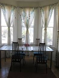 Curtains For Bay Window I Think This Is The Best Option My Dining Area Set Up Almost Identical