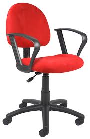 Electric Chair Wichita Ks Hours by Boss Micro Fiber Deluxe Ergonomic Posture Chair With Loop Arms