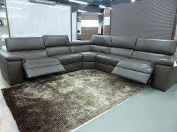natuzzi editions brown panama large power corner sofa furnimax