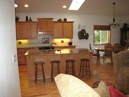 Kitchen Island With Attached Table Round