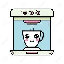Kawaii Cute Happy Coffee Maker Technology