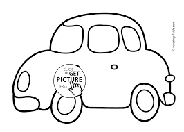 Car Coloring Page Transportation Pages For Kids Printable Free Good