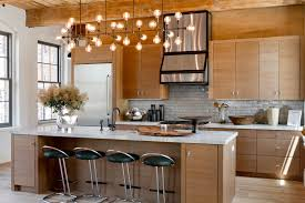 traditional lighting fixtures kitchen with black bar stools and