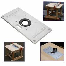 235mm x 120mm x 8mm aluminum router table insert plate for