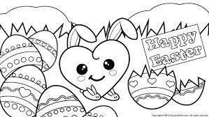 Happy Easter Coloring Pages For Kids Page