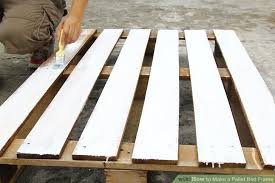 how to make a pallet bed frame 6 steps with pictures wikihow
