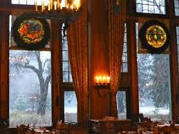 ahwahnee dining room watching the snow picture of yosemite