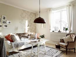 Stockholm Apartment Design Within Shabby Chic Style Living Room Area With Modern Rustic Interior