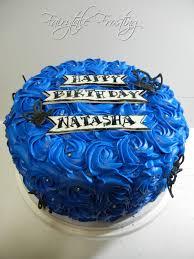 Fairytale Frosting Blue Rose Cake