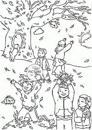 Download Coloring Pages Autumn Leaves Funny Fall For Kids