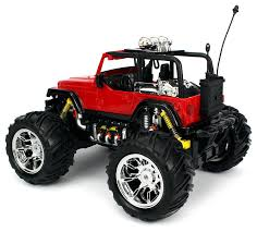 Amazon.com: Velocity Toys Jeep Wrangler Remote Control RC Truck Big ...