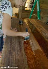 Diy Reclaimed Wood Table Top by Remodelaholic Diy Built In Breakfast Bar Dining Table