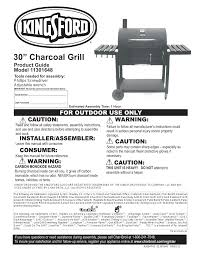 Patio Bistro Gas Grill Manual by Kingsford 11301648 User Manual 20 Pages