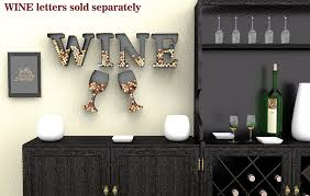 Wine Bottle Cork Holder Wall Decor by Amazon Com Wine Glass Cork Holder Art Wall Décor Metal Set Of