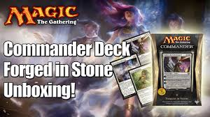 Mtg Commander Decks 2014 by Mtg Forged In Stone Commander Deck 2014 Unboxing U0026 Review Youtube